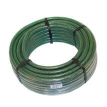 """""""Zöld kígyó"""" locsolótömlő háromrétegű szövetbetétes 5/4"""" 1fm 25 m/tekercs"""