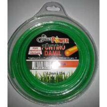 Green Power műanyag vágószál 3mmx55m kör, műanyag tekercs