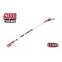 HECHT 9504 akkumulátoros magassági ágvágó fűrész, akkumulátor és töltő nélkül