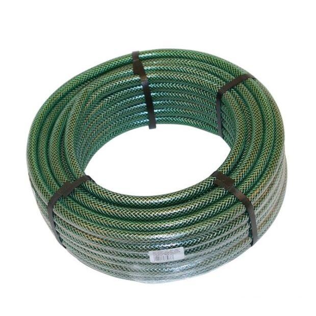 """""""Zöld kígyó"""" locsolótömlő háromrétegű szövetbetétes 1/2"""" 25 m"""