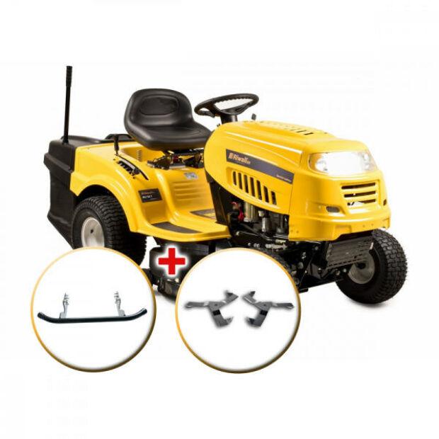 Riwall RLT 92 T POWER KIT benzinmotoros fűnyíró traktor fűgyűjtővel, 6-fokozatú Transmatic váltó, 92cm, 14.5LE, 240L gyűjtőkosár