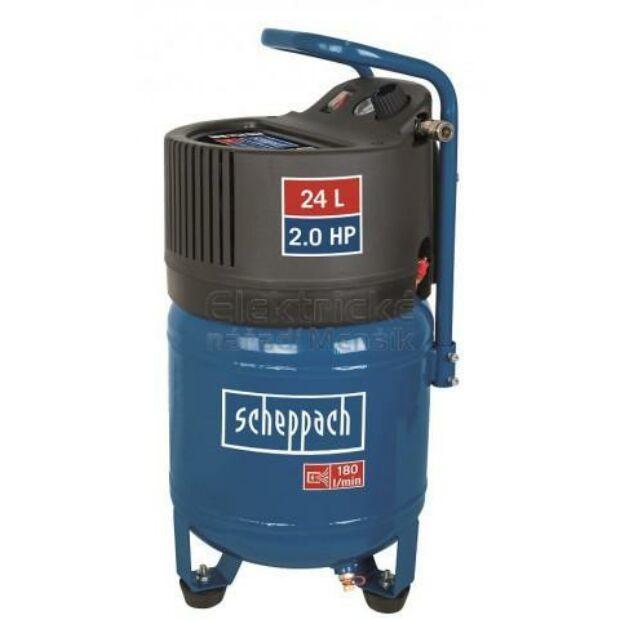 Scheppach HC 24 V elektromos kompresszor 1500 W 24 L 10 bar