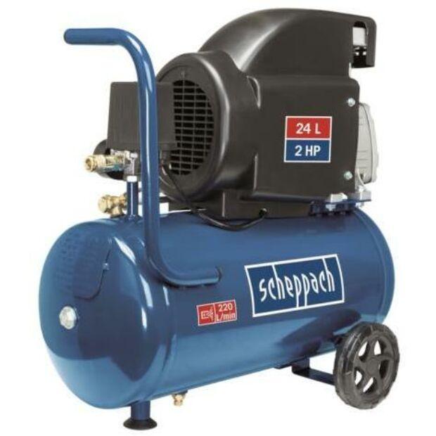 Scheppach HC 26 elektromos kompresszor 1500 W 8 bar 24 L